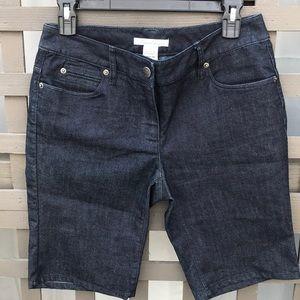 Ladies Kenneth Cole dark blue shorts w/stretch